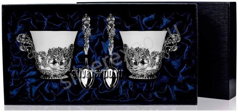 Серебряный чайный набор Натюрморт Фабрика серебра АРГЕНТА 189561