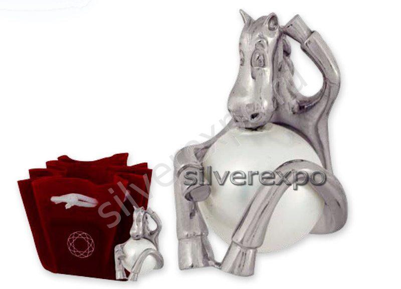Серебряная фигурка лошадка Алмаз - холдинг (Россия) 50239