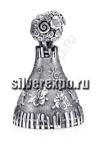 Серебряный колокольчик Овечка Альтмастер Кострома 57855