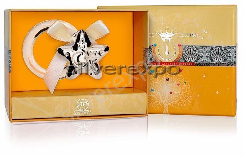 Серебряная погремушка Звезда Фламинго (Португалия) 1GI0121B