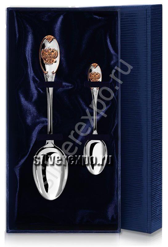 Серебряные ложки Герб с позолотой Фабрика серебра АРГЕНТА 23525202