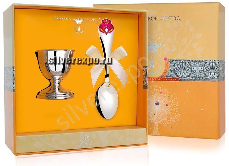 Подставка под яйцо с ложкой Принцесса Фабрика серебра АРГЕНТА 8620012-46