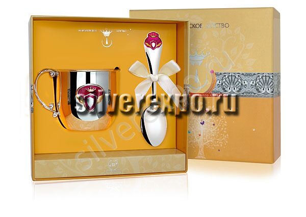 Серебряный набор Принцесса Фабрика серебра АРГЕНТА 189-77