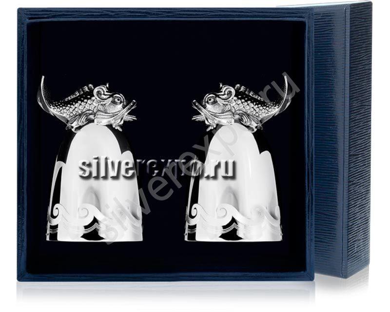 Серебряные стопки Царь Рыба Фабрика серебра АРГЕНТА 618СТ00806/2