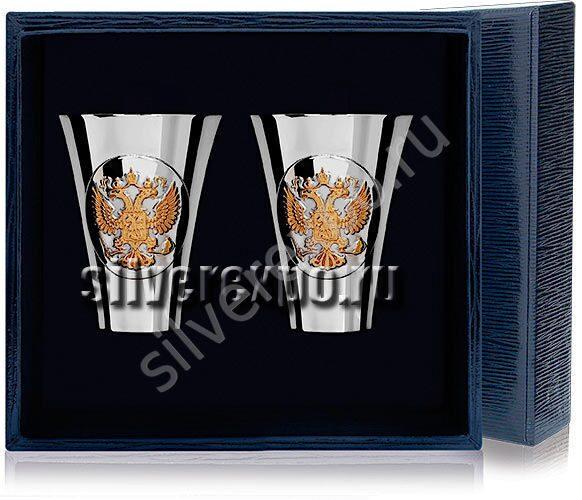 Набор серебряных стопок Герб Фабрика серебра АРГЕНТА 285СТ00002/2