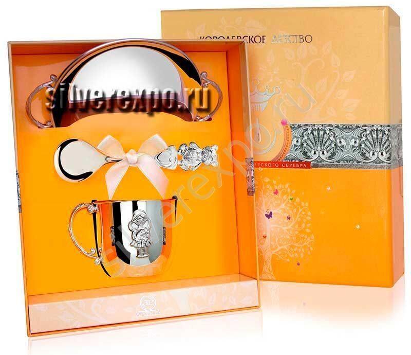 Серебряная посуда для девочки Фабрика серебра АРГЕНТА 130701