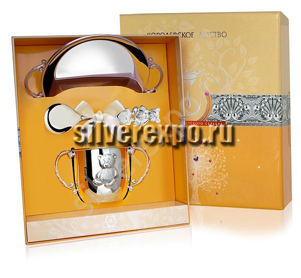 Серебряный набор Мишутка Фабрика серебра АРГЕНТА 221НБ05801
