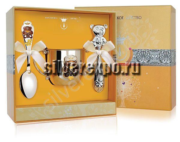 Серебряный набор Малышу Фабрика серебра АРГЕНТА 222-41
