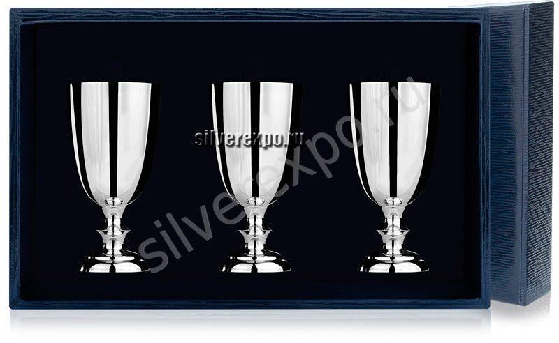 Набор из трёх серебряных рюмок Фабрика серебра АРГЕНТА 026РМ00001/3