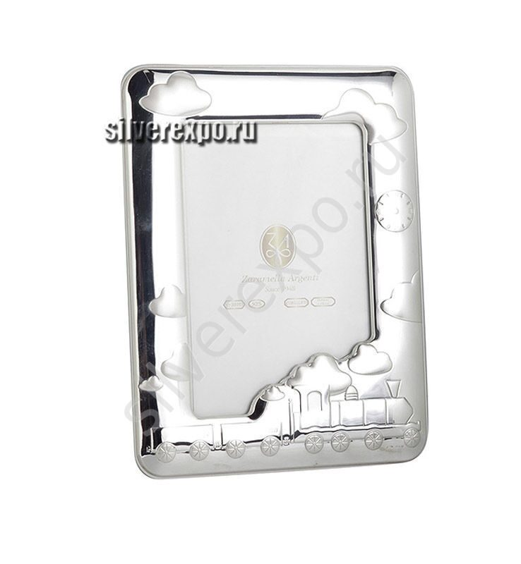 Серебряная рамка для фото Паровозик Zaramella Argenti (Италия) 8001-TR