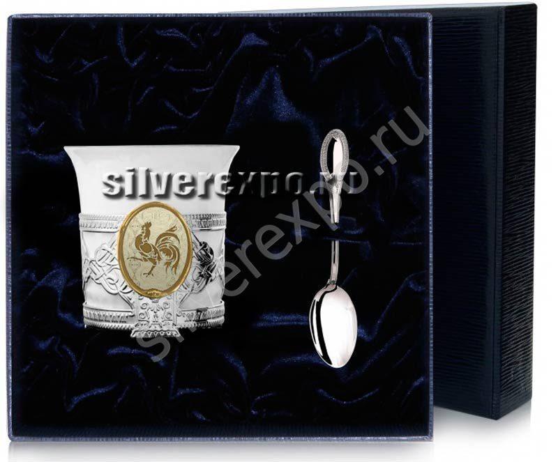 Кофейный набор Год Петуха Фабрика серебра АРГЕНТА 892НБ07002