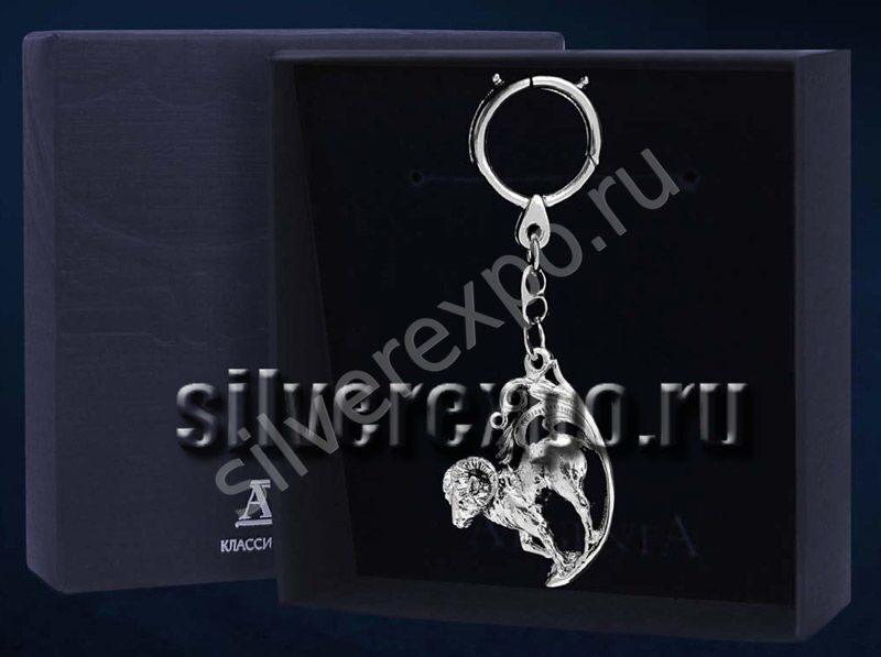 Серебряный брелок Архар Фабрика серебра АРГЕНТА 744БР15806