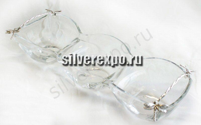 Серебряная менажница со Стрекозой Raddi Италия 0013211/А