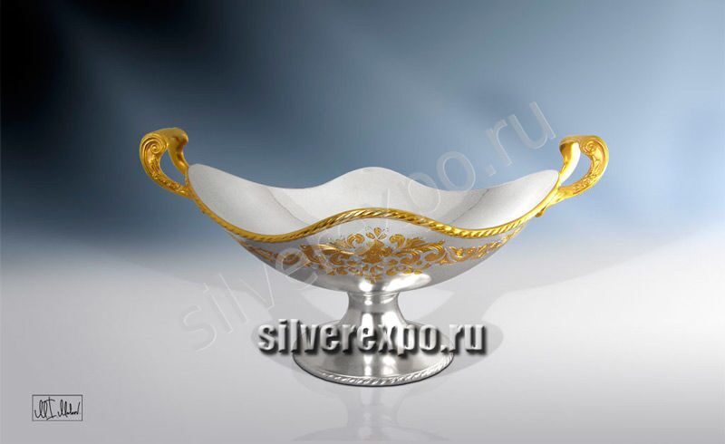 Серебряная ваза Жар Птица ЗАО «Мстерский Ювелир» 33684300825