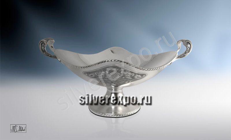 Серебряная ваза Аленький Цветок ЗАО «Мстерский Ювелир» 33684300925
