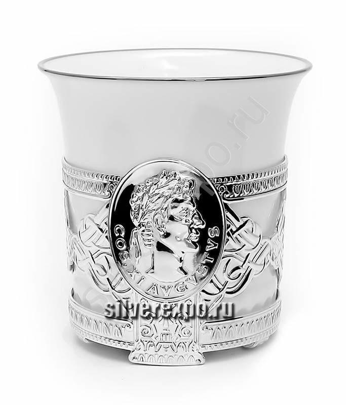 Серебряная чашка кофейная Октавиан Август Фабрика серебра АРГЕНТА 556ЧШ07001