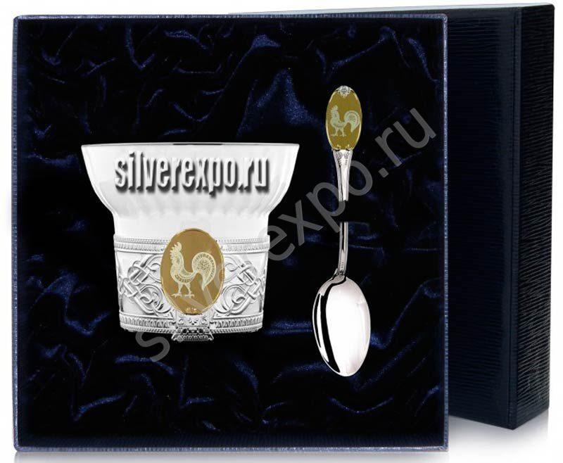 Чайный набор Золотой Петушок Фабрика серебра АРГЕНТА 580НБ03002-1