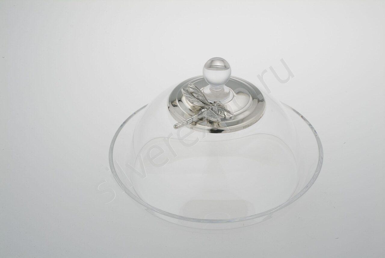 Масленка серебряная Стрекоза круглая Raddi Италия 0011998/А