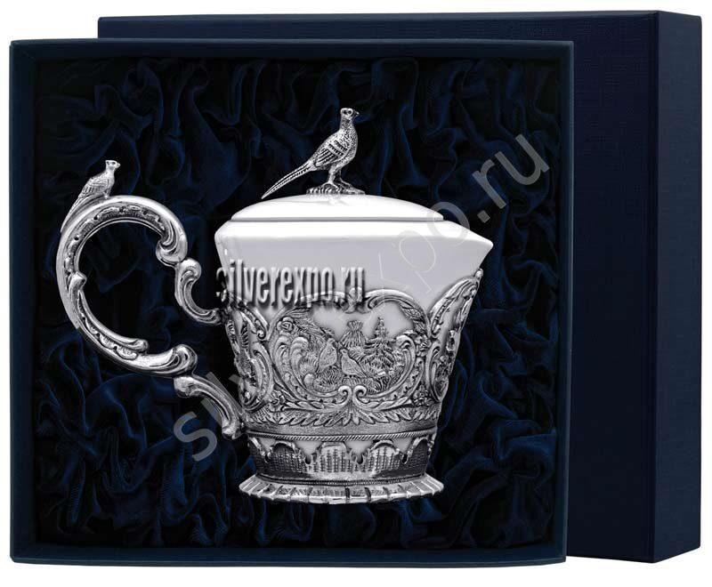 Сливочник Королевская охота Фабрика серебра АРГЕНТА 125СЛ07006