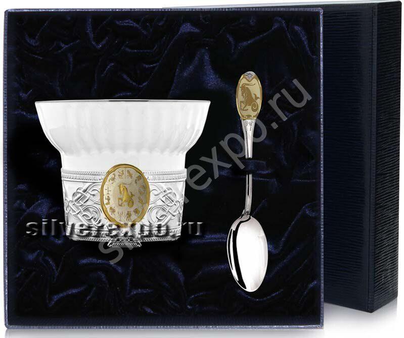 Чайный набор Козерог Фабрика серебра АРГЕНТА 18НБ11