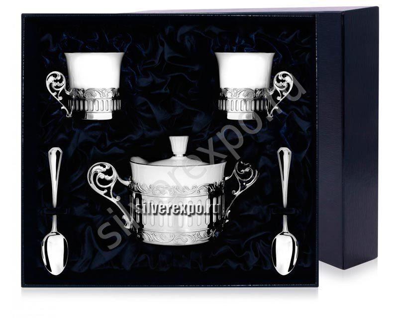 Кофейный серебряный набор Богема Фабрика серебра АРГЕНТА 6982014