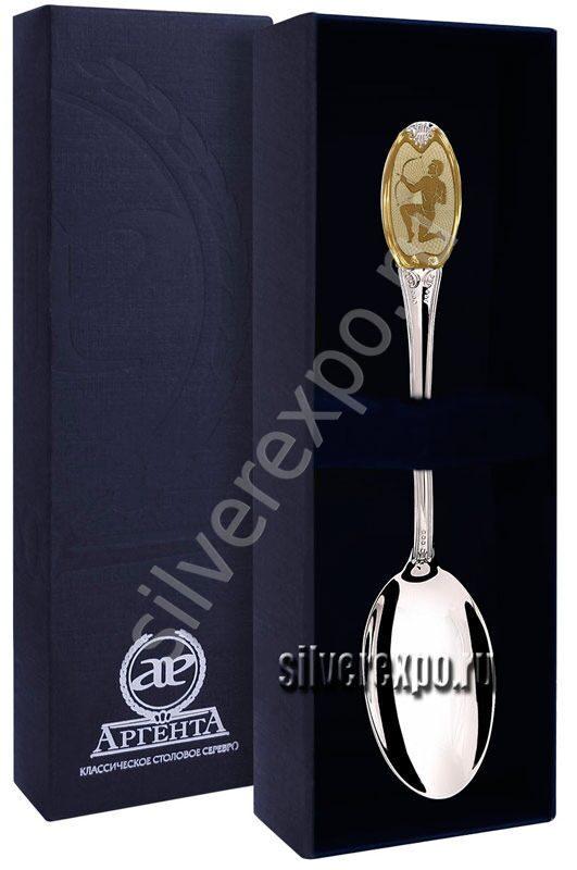 Серебряная ложка Стрелец Фабрика серебра АРГЕНТА 293ЛЖ03002