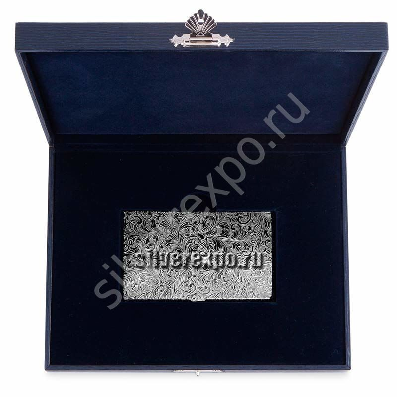 Серебряная визитница с рисунком Zaramella Argenti (Италия) 2192