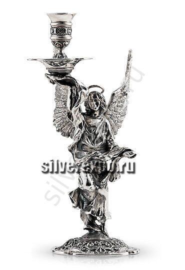 Серебряный подсвечник Ангел-Хранитель Альтмастер Кострома 1835