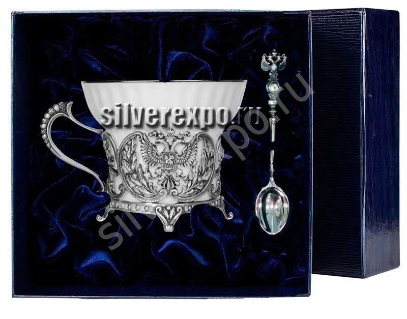 Серебряный набор Герб для чая Фабрика серебра АРГЕНТА 820НБ0100