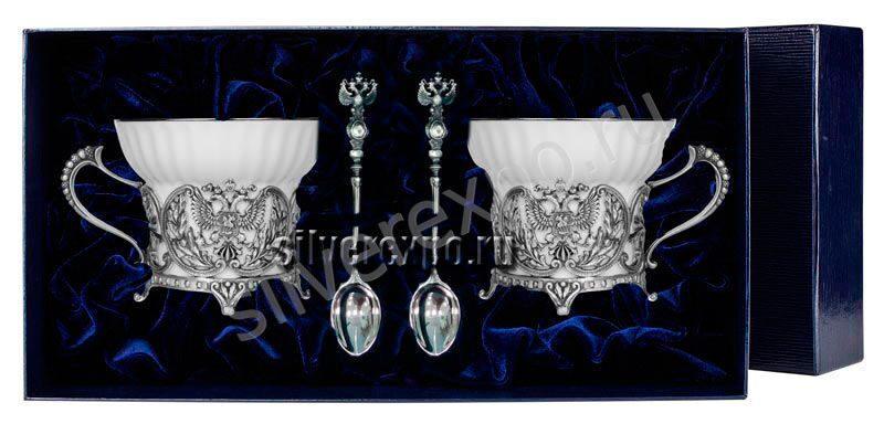 Серебряный чайный набор Герб Фабрика серебра АРГЕНТА 820НБ0100/4