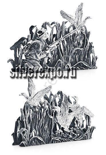 Серебряная подставка для визиток Охота Альтмастер Кострома 12468