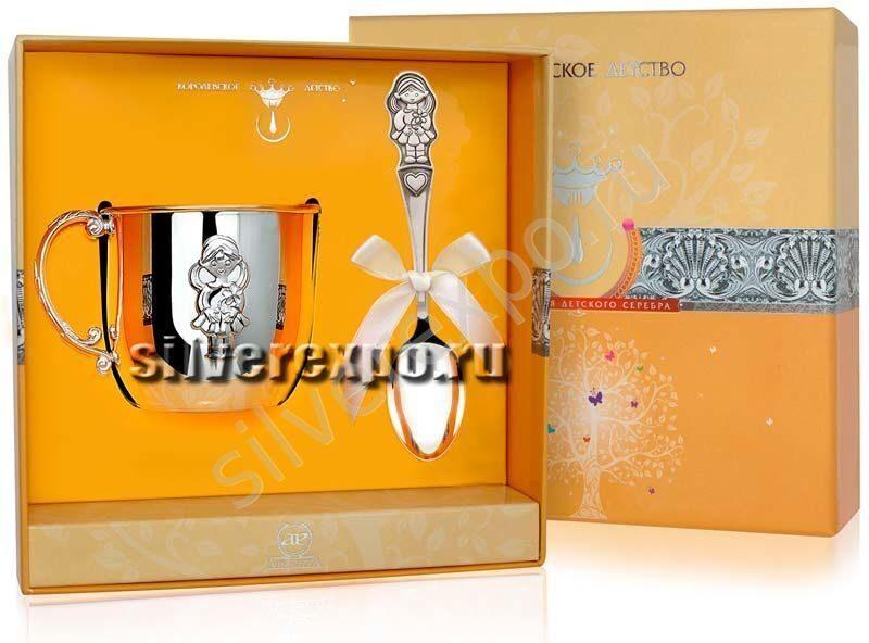 Серебряный набор детский Машенька Фабрика серебра АРГЕНТА 455-66а