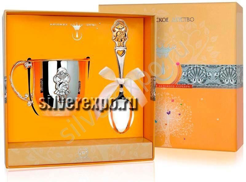 Серебряный набор для девочки Фабрика серебра АРГЕНТА 155-62а