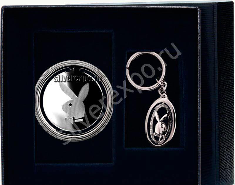 Серебряный набор сувениров Плейбой Фабрика серебра АРГЕНТА 7756