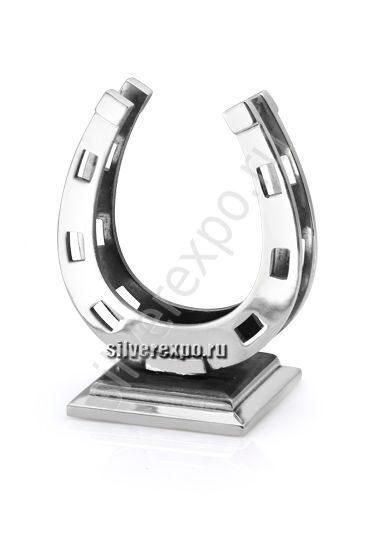 Серебряная подставка для визиток Подкова Альтмастер Кострома 12467