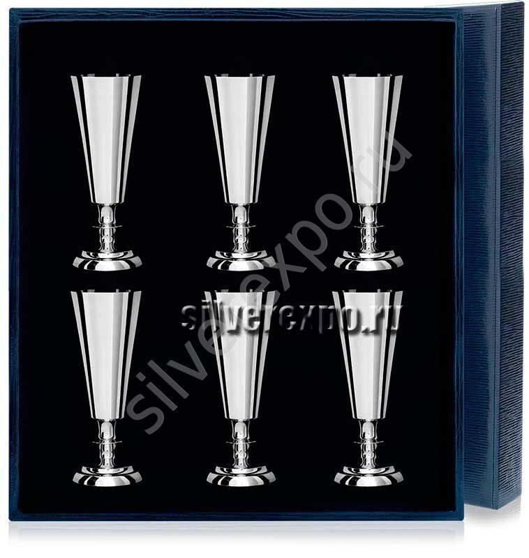 Серебряные рюмки №2 в наборе Фабрика серебра АРГЕНТА 027РМ00001/6