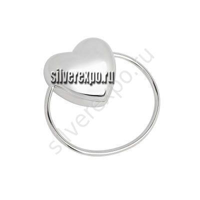 Серебряная погремушка Сердце VALENTI Италия 224580