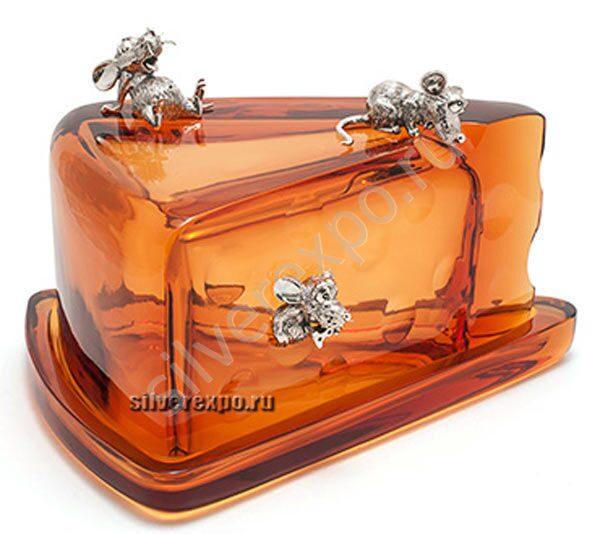 Серебряная сырница большая Альтмастер Кострома 892АЛТ