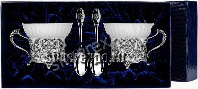 Серебряные чашки Герб в наборе Фабрика серебра АРГЕНТА 189563