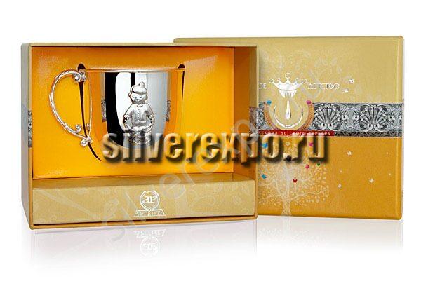Детская серебряная кружка Малыш Фабрика серебра АРГЕНТА 007КР05001