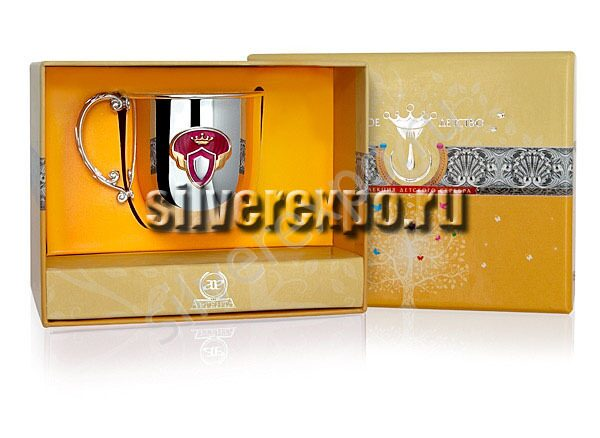 Серебряная кружка Принцесса Фабрика серебра АРГЕНТА 475КР05007