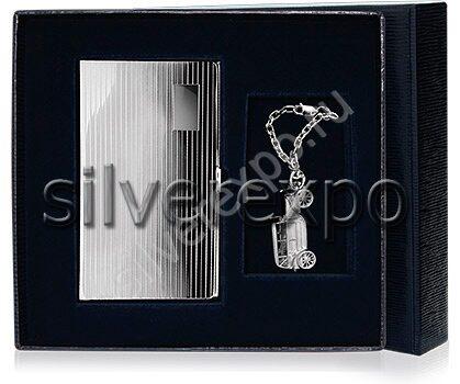 Серебряный набор с брелком Bicama Италия СВ107