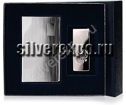 Серебряный подарок с визитницей. Bicama Италия СВ 104
