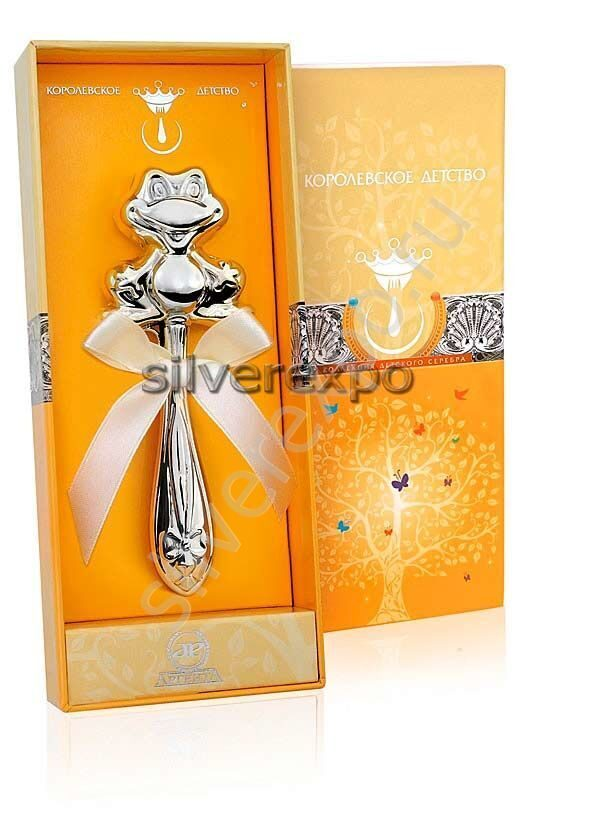 Погремушка серебряная Лягушка Фламинго (Португалия) 1GI0441U