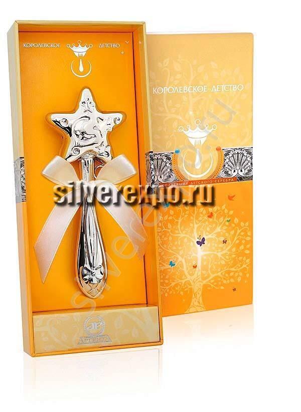 Погремушка серебряная Звезда Фламинго (Португалия) 1GI0301В