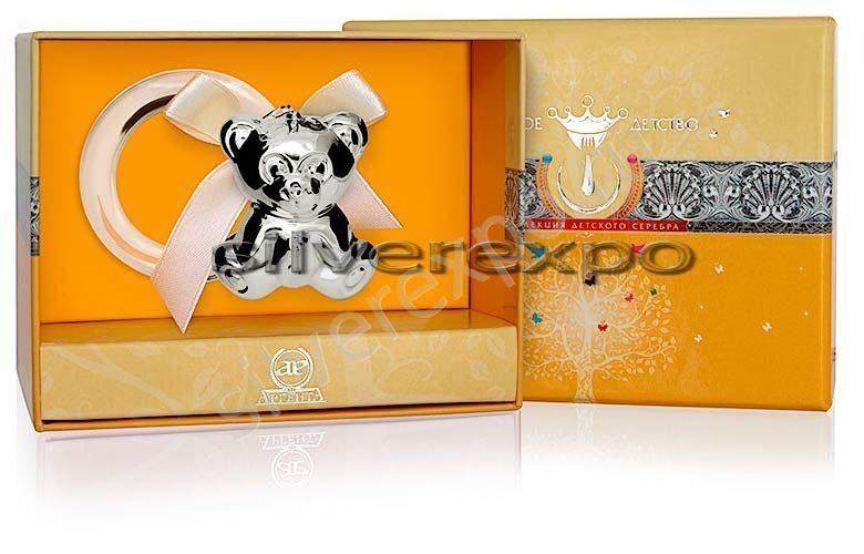 Серебряная погремушка Мишутка Фламинго (Португалия) 1GI0121С
