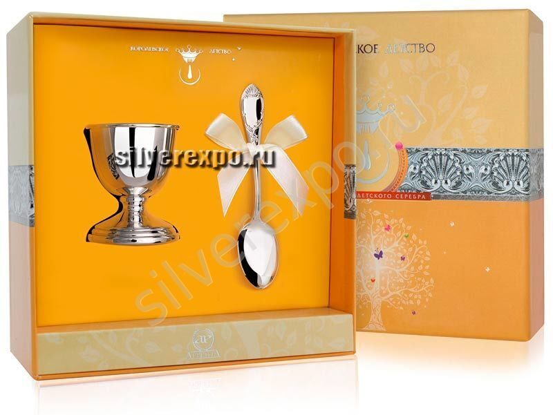 Подставка под яйцо с ложкой Престиж Фабрика серебра АРГЕНТА 8620012-05