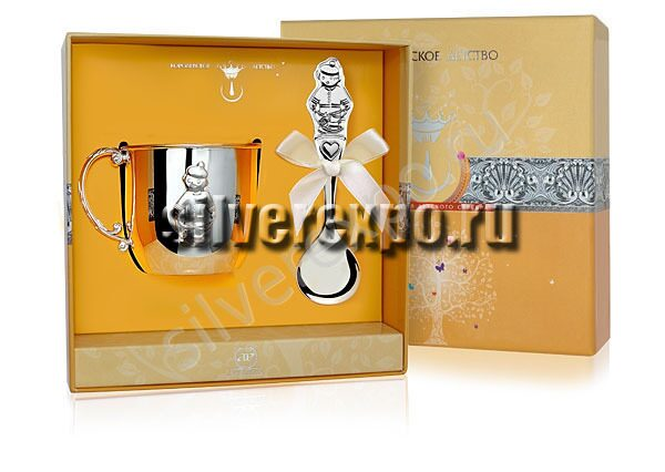 Серебряный набор Малыш Фабрика серебра АРГЕНТА 189-35