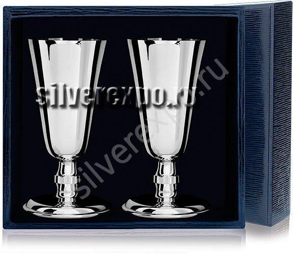 Набор серебряных рюмок №4 Фабрика серебра АРГЕНТА 029РМ00001/2