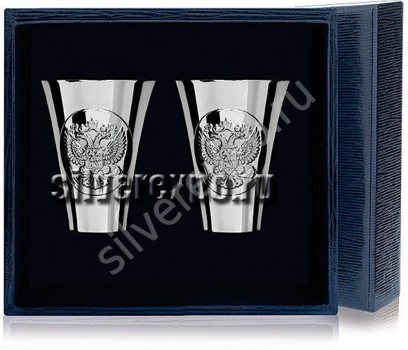 Набор серебряных стопок Герб Фабрика серебра АРГЕНТА 285СТ00001/2